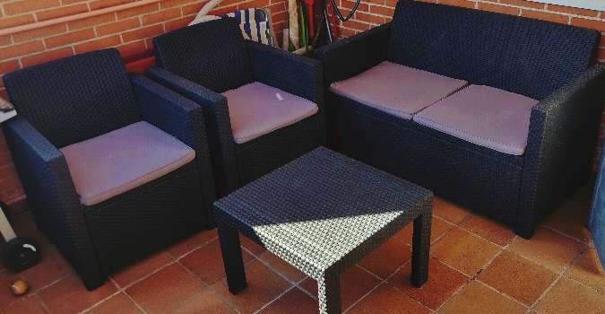 Imagen Conjunto jardín set - sofa sillones y mesa