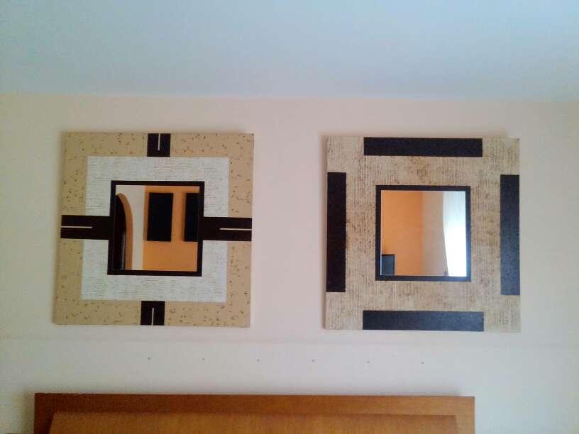 Imagen espejos con marco de decoración