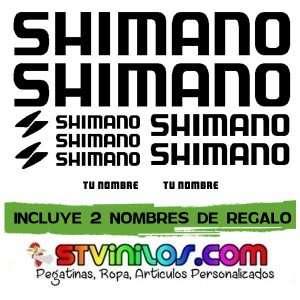 Imagen vinilo Shimano con nombre