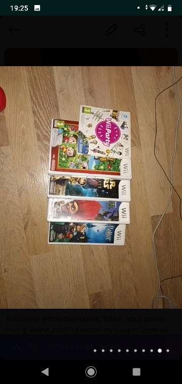 Imagen Consola Nintendo Wii + 5 juegos