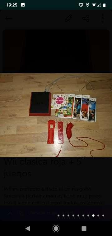 Imagen producto Consola Nintendo Wii + 5 juegos 6