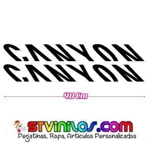 Imagen pegatina cuadro para bicis canyon