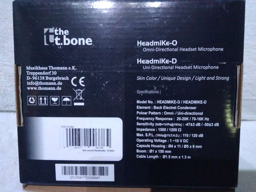 Imagen producto Micrófono de condensador de diadema. 3