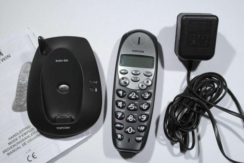 Imagen producto Teléfono inalámbrico Topcom Butler 800 para personas mayores. 3