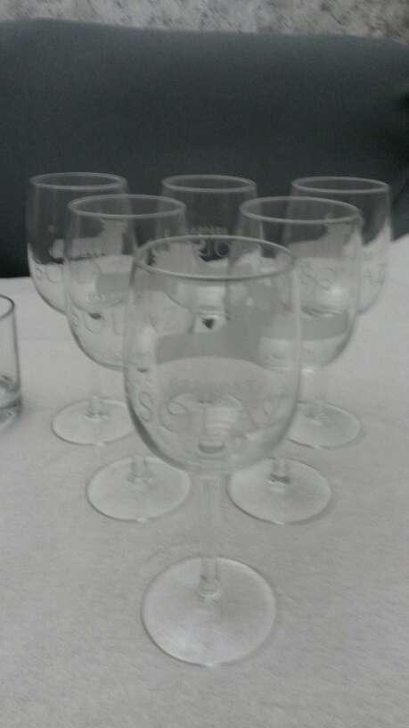 Imagen producto Lote vasos de whisky & copias vino Osborne solaz 2