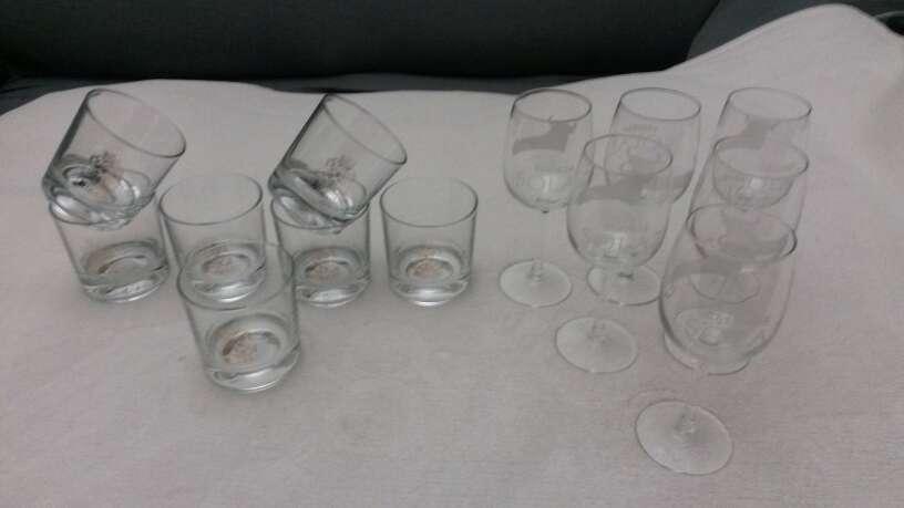 Imagen producto Lote vasos de whisky & copias vino Osborne solaz 4