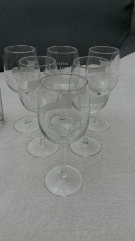 Imagen producto Lote vasos de whisky & copias vino Osborne solaz 9