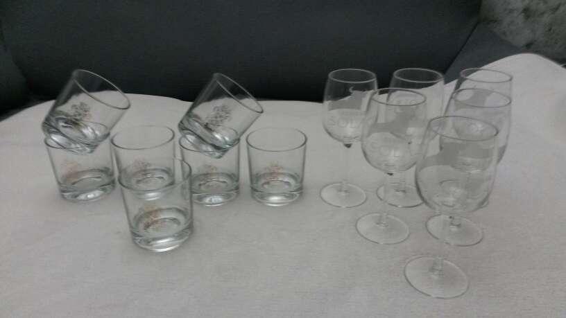 Imagen producto Lote vasos de whisky & copias vino Osborne solaz 10