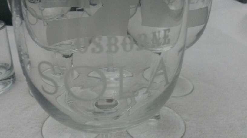 Imagen producto Lote vasos de whisky & copias vino Osborne solaz 6