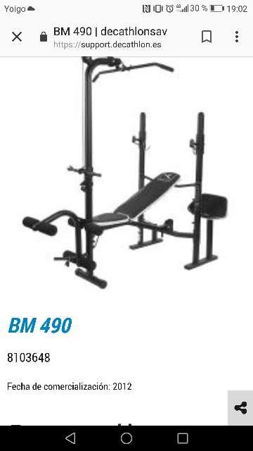 Imagen BM490 decathlon banco de pesas