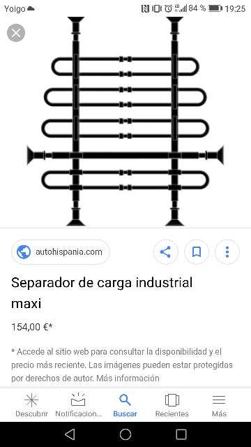 Imagen producto Separador de cargas mercancíasReja adaptable para cualquier tipo de furgoneta.  3