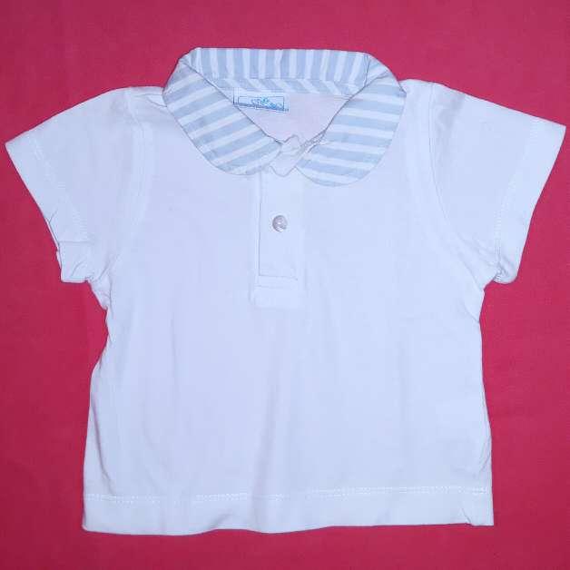 Imagen Polo blanco bebé, 0-3m