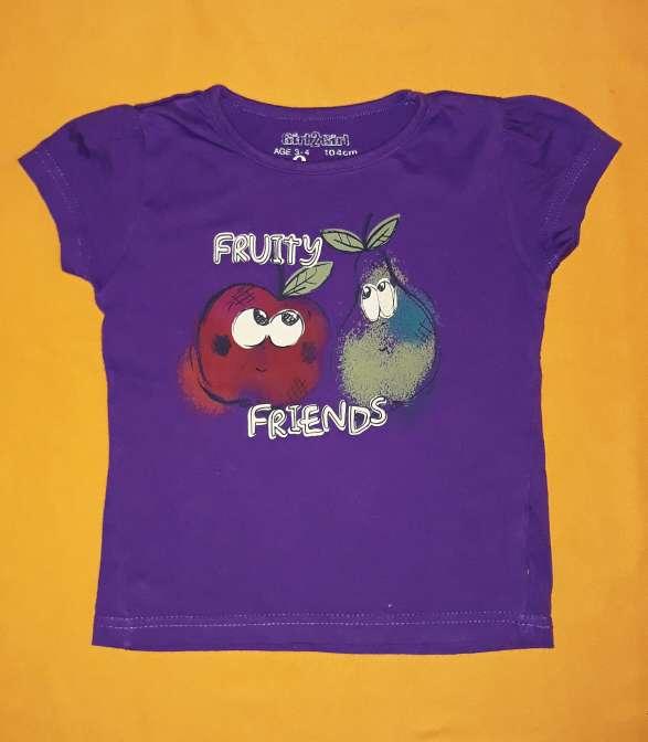 Imagen Camiseta frutas, 4 años