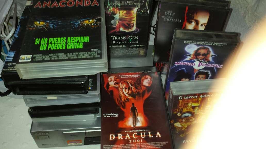 Imagen video vhs sony con películas de terror