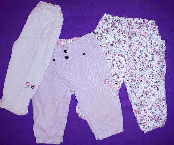 Imagen Pantalones bebé calentitos, 9m.