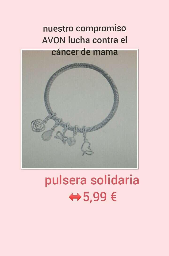 Imagen avon pulsera solidaria contra el cancer