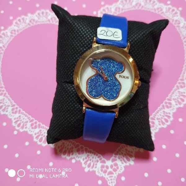Imagen Reloj estilo tous simil piel azul