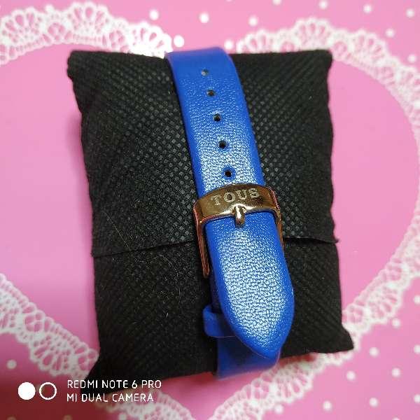 Imagen producto Reloj estilo tous simil piel azul 2