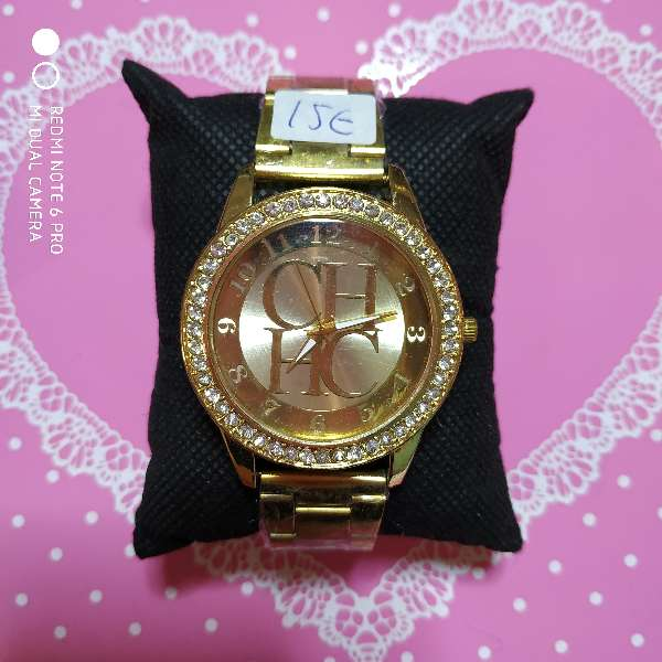 Imagen producto Reloj mujer estilo Carolina Herrera acero dorado o plateado 1