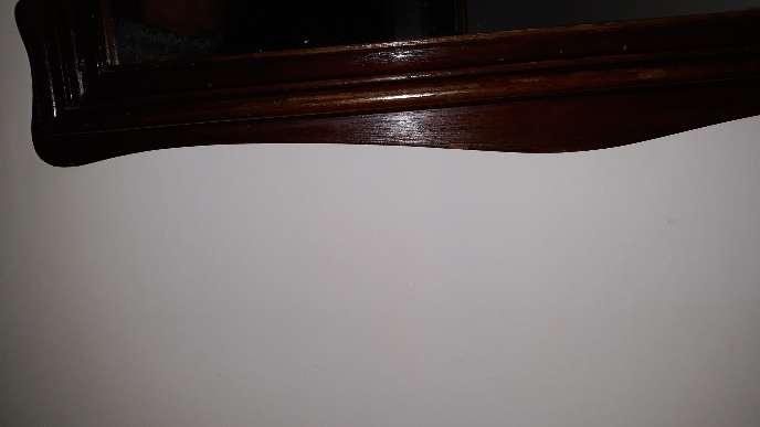Imagen producto Espejo antiguo con marco caoba 6