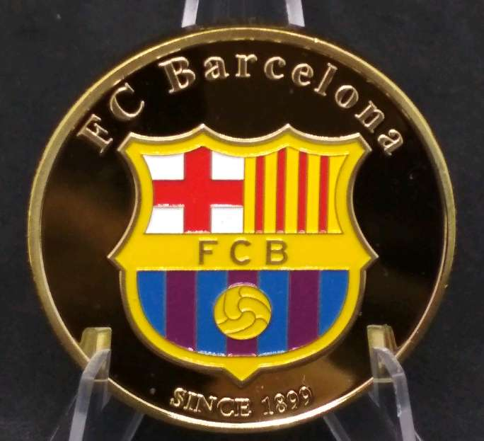 Imagen Moneda - medalla Messi - Barça