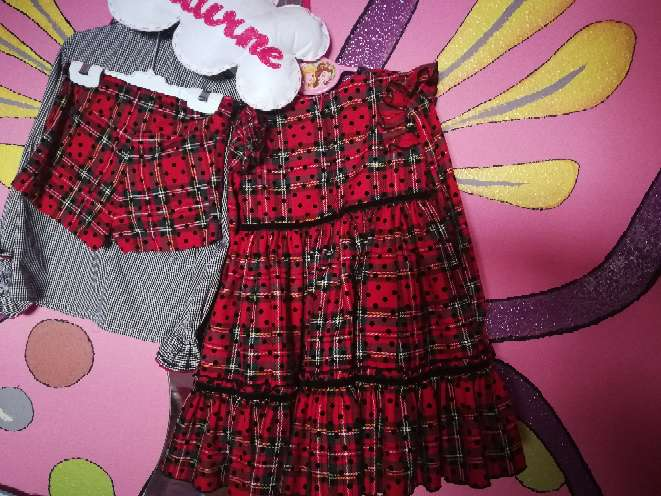 Imagen producto Conjunto Eva castro completo y vestido (ideal mellizas) mirelle t5 4