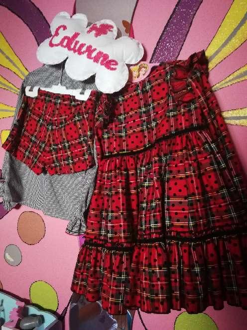 Imagen Conjunto Eva castro completo y vestido (ideal mellizas) mirelle t5