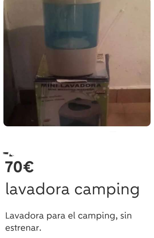 Imagen Lavadora camping