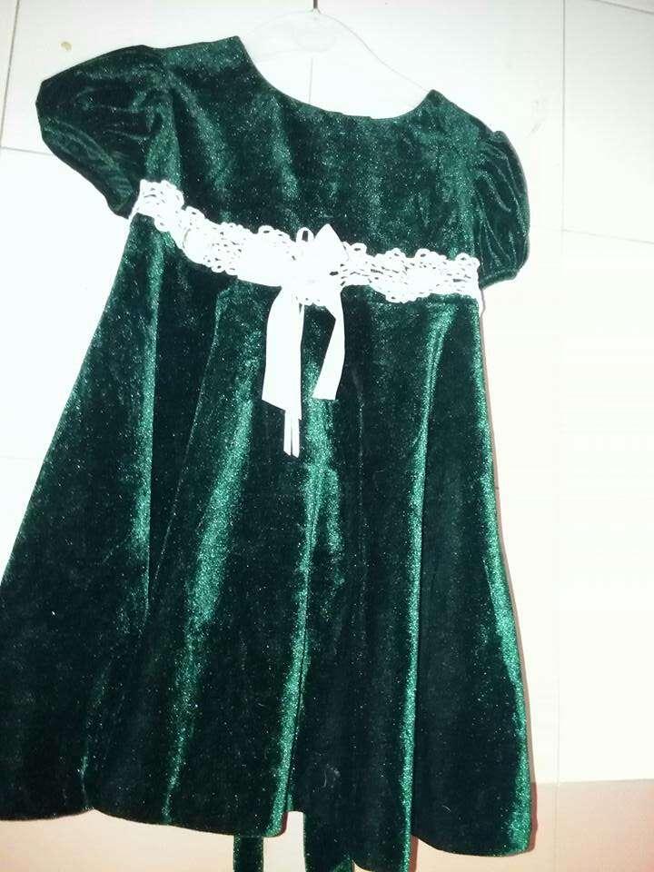 Imagen vestido niña terciopelo