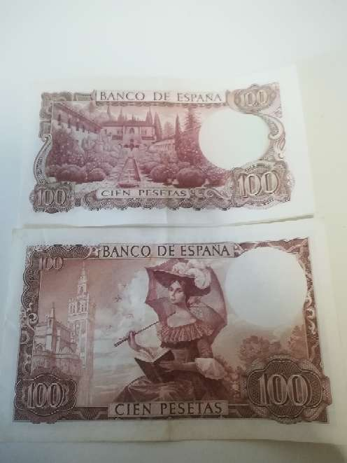 Imagen producto Billetes de 100 pesetas  2