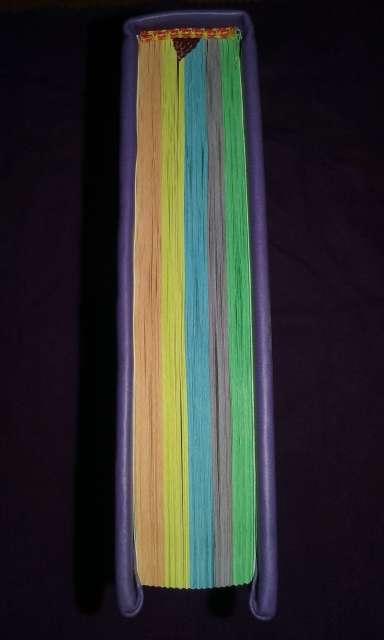 Imagen producto Coran arabe nuevo lila con paginas arco iris acepto paypal y transferencia bancaria (hago envios a toda españa a cargo del comprador) 2