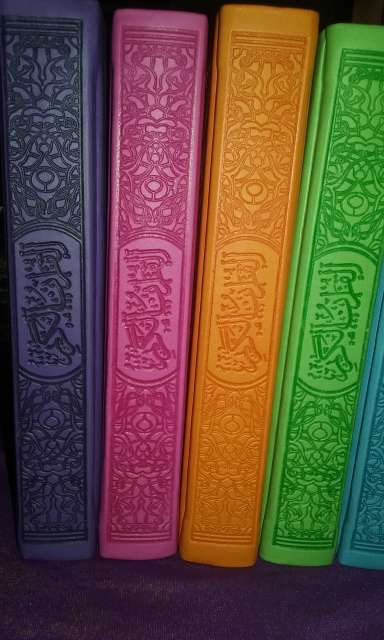 Imagen producto Coran arabe nuevo lila con paginas arco iris acepto paypal y transferencia bancaria (hago envios a toda españa a cargo del comprador) 4