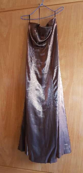 Imagen vestido de fiesta marrón