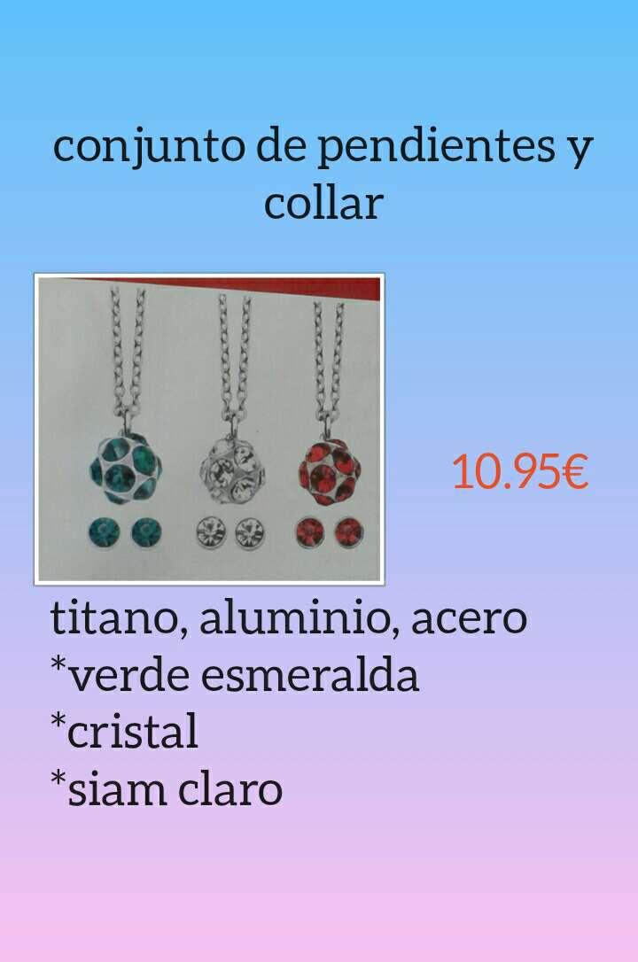 Imagen producto Conjunto de collar y pendientes 1