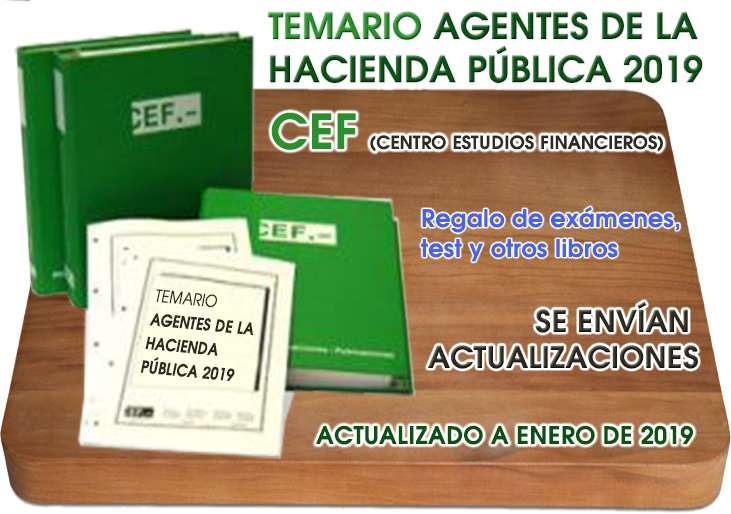 Imagen Temario Oposiciones Agentes Hacienda Pública 2019