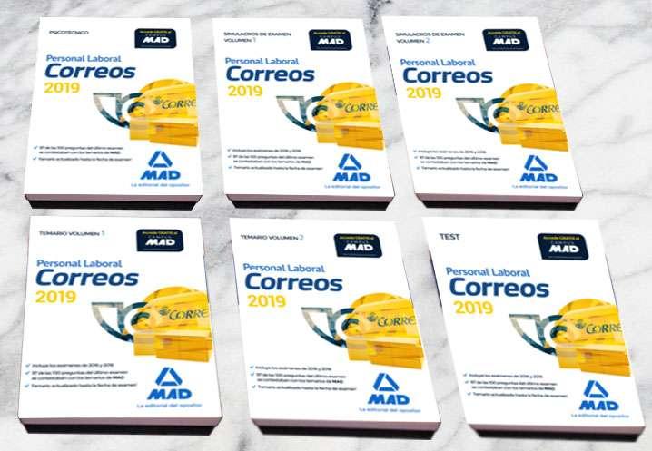 Imagen Libros oposiciones Correos 2019