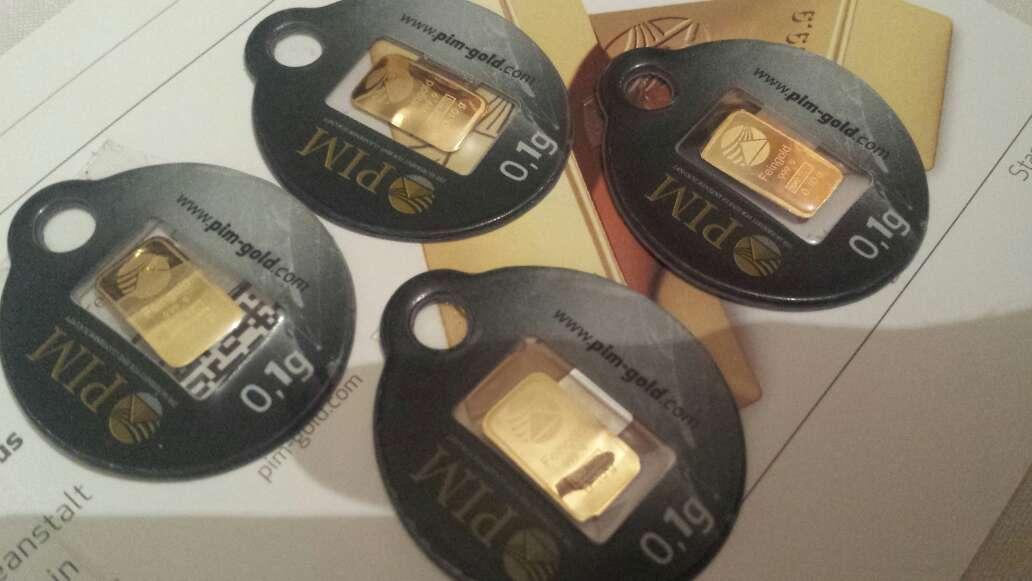 Imagen producto Pack de 4 lingotes de oro puro  3