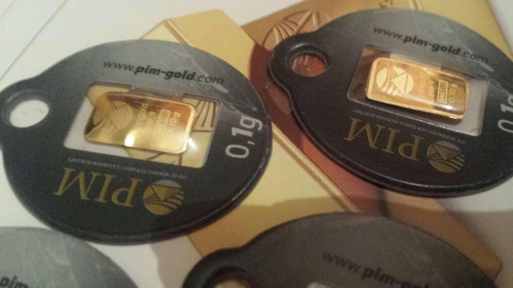 Imagen pack de 4 lingotes de oro puro