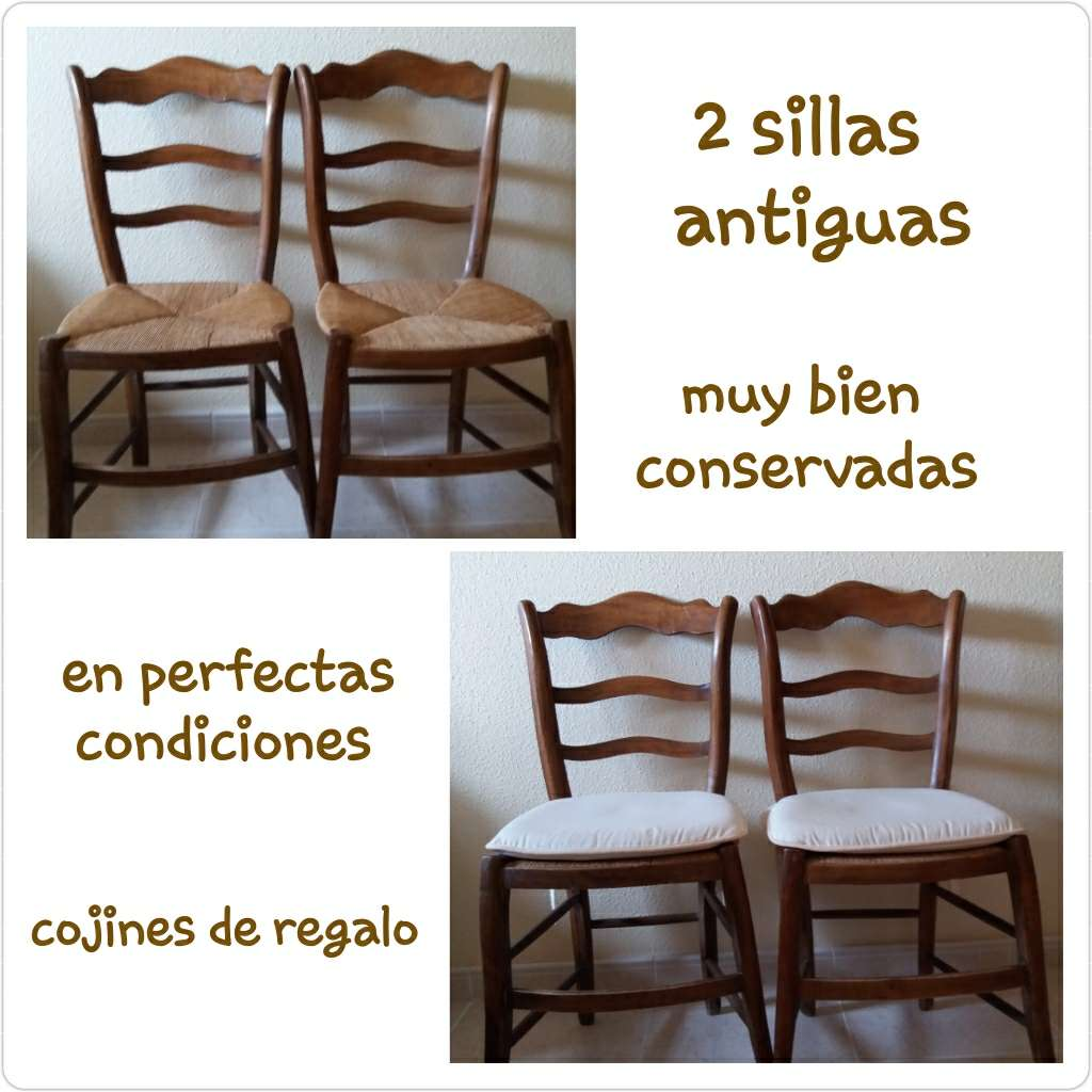 Imagen 2 sillas antiguas muy bien conservadas