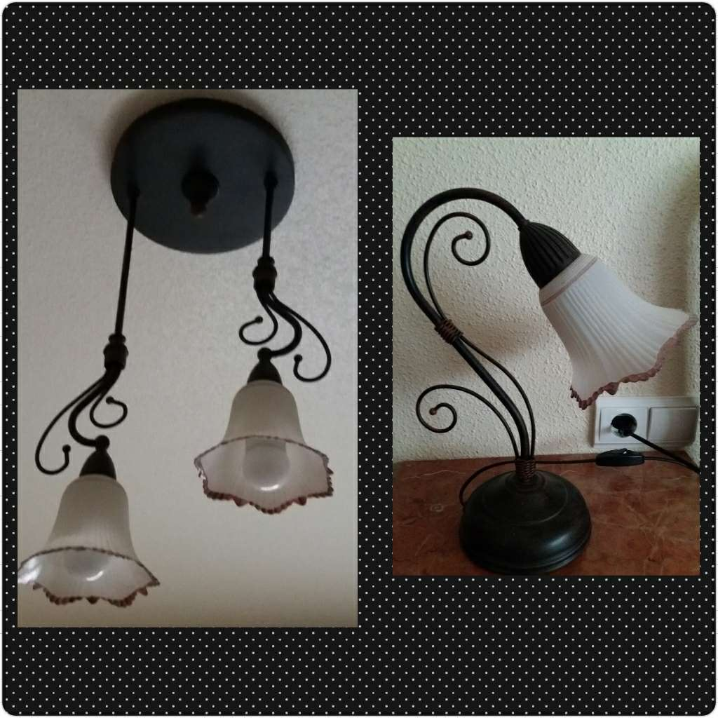 Imagen Lámpara techo + lámpara mesilla