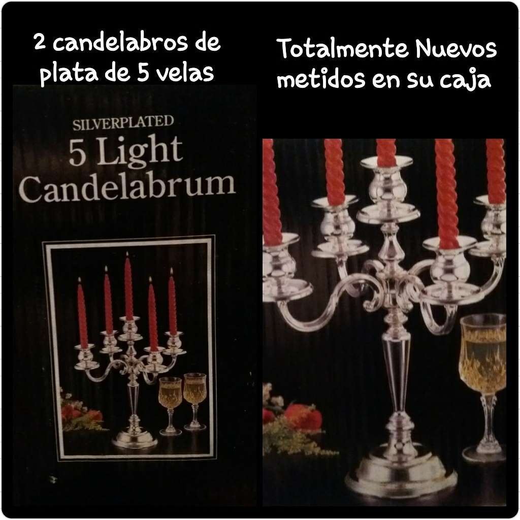 Imagen 2 candelabros de plata de 5 brazos. Nuevos.
