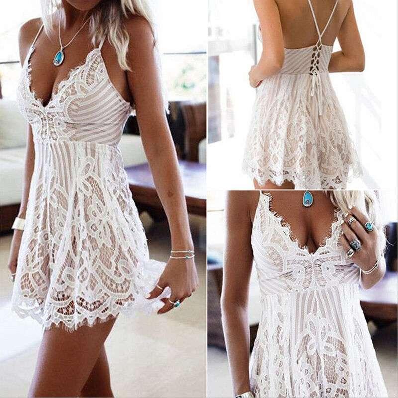 Imagen vestido blanco veraniego