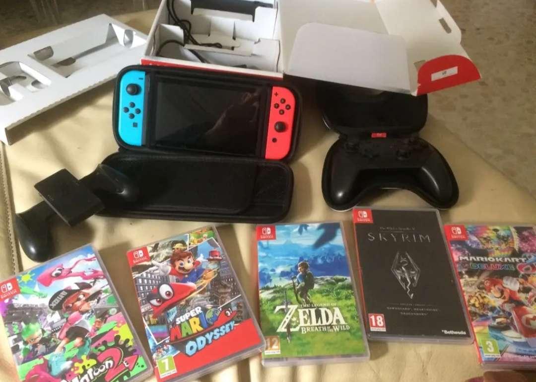 Imagen Nintendo switch y juegos