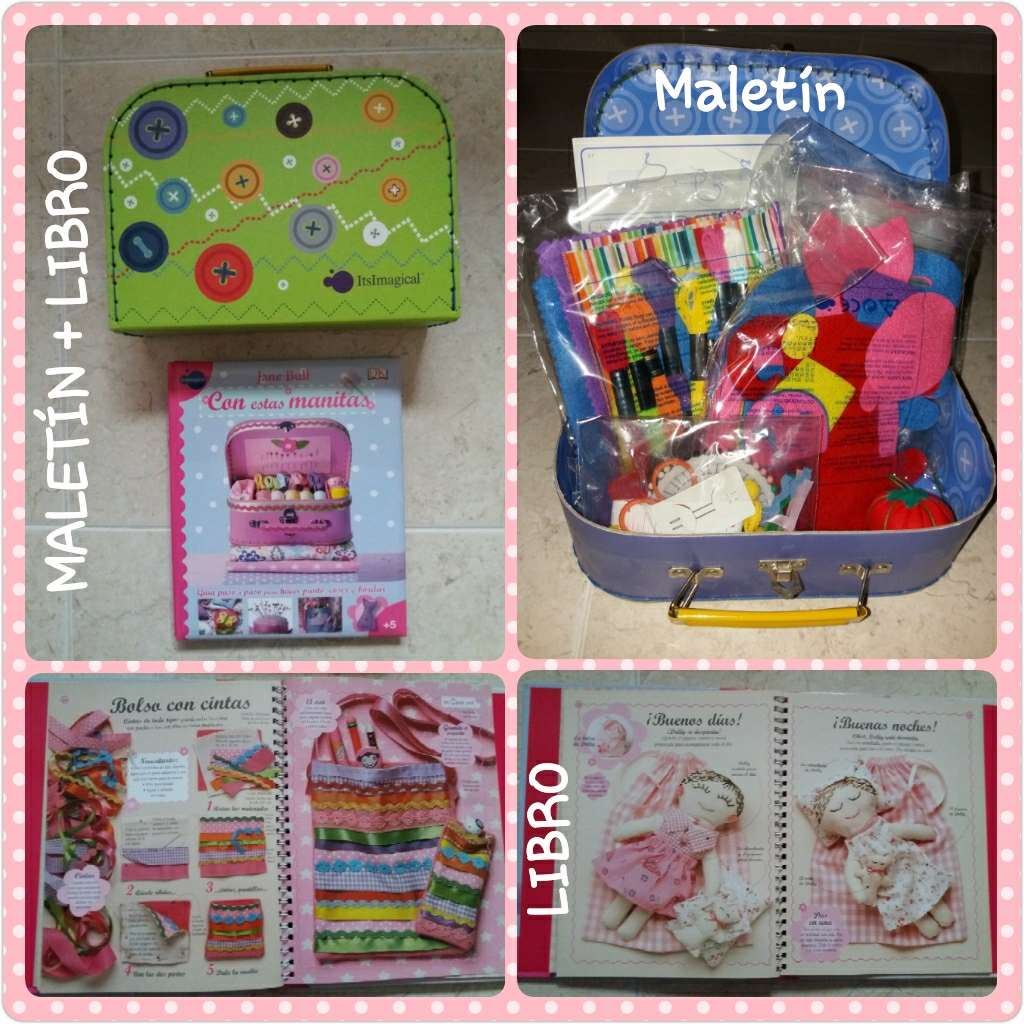 Imagen maletín + libro de manualidades IMAGINARIUM
