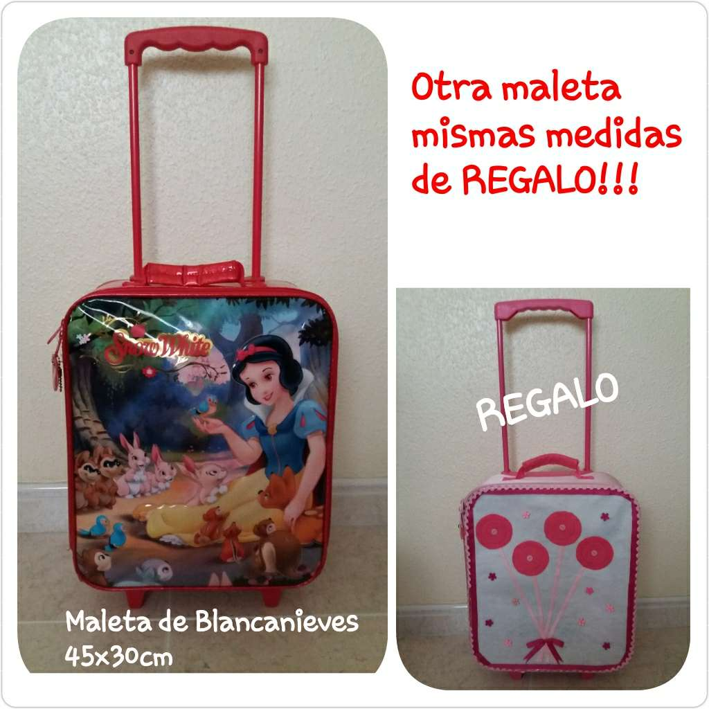 Imagen Maleta infantil Blancanieves + otra de regalo.