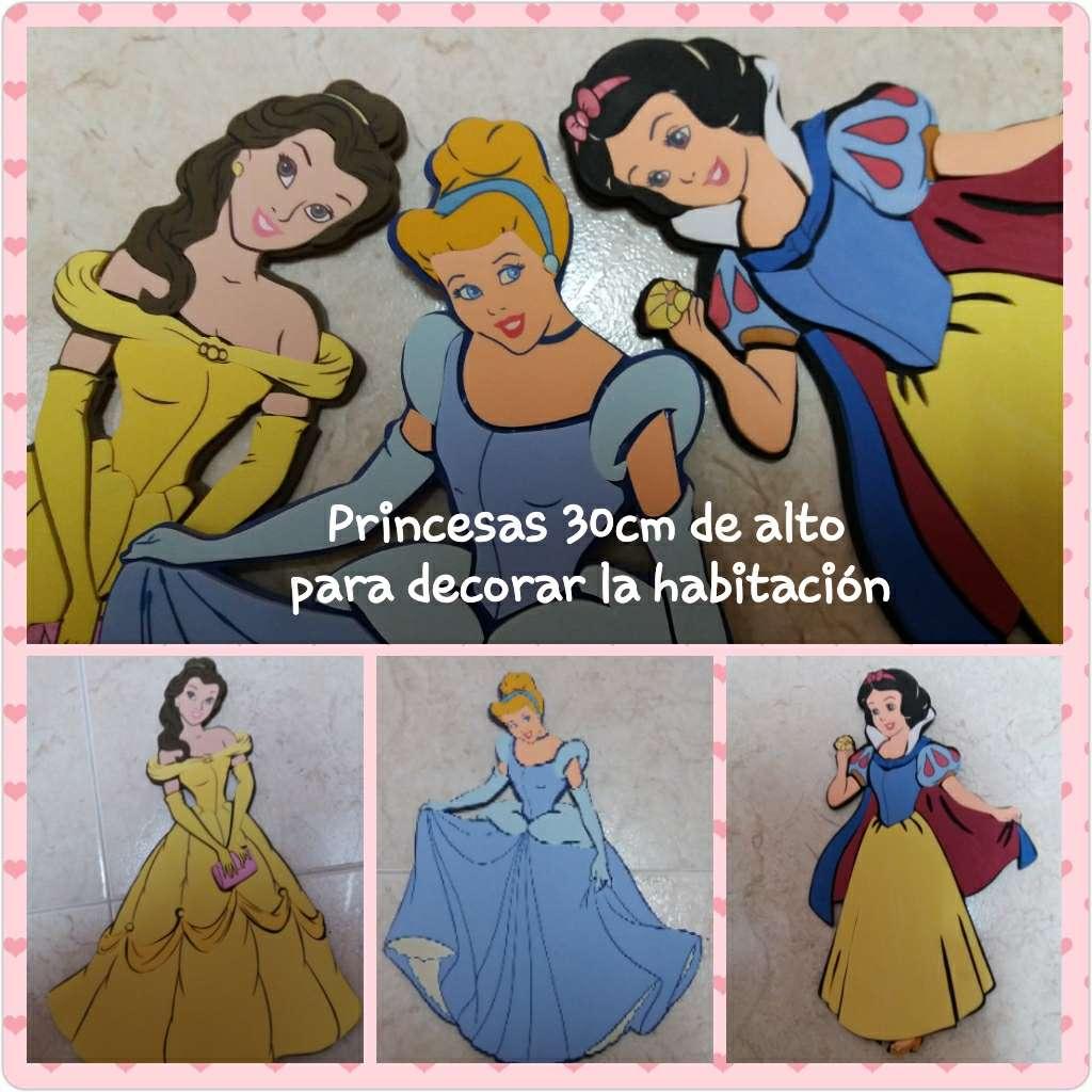 Imagen Princesas 30 cm. Bella, Blancanieves y Cenicienta