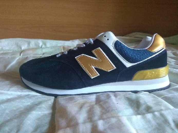 Imagen Zapatillas nb azul oro