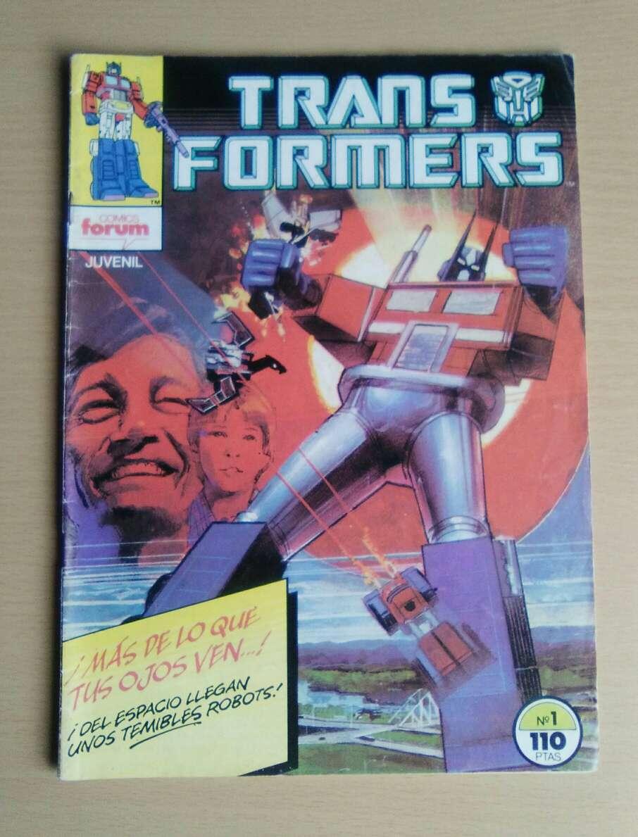 Imagen Comic Transformers #1 primera edición 1984.