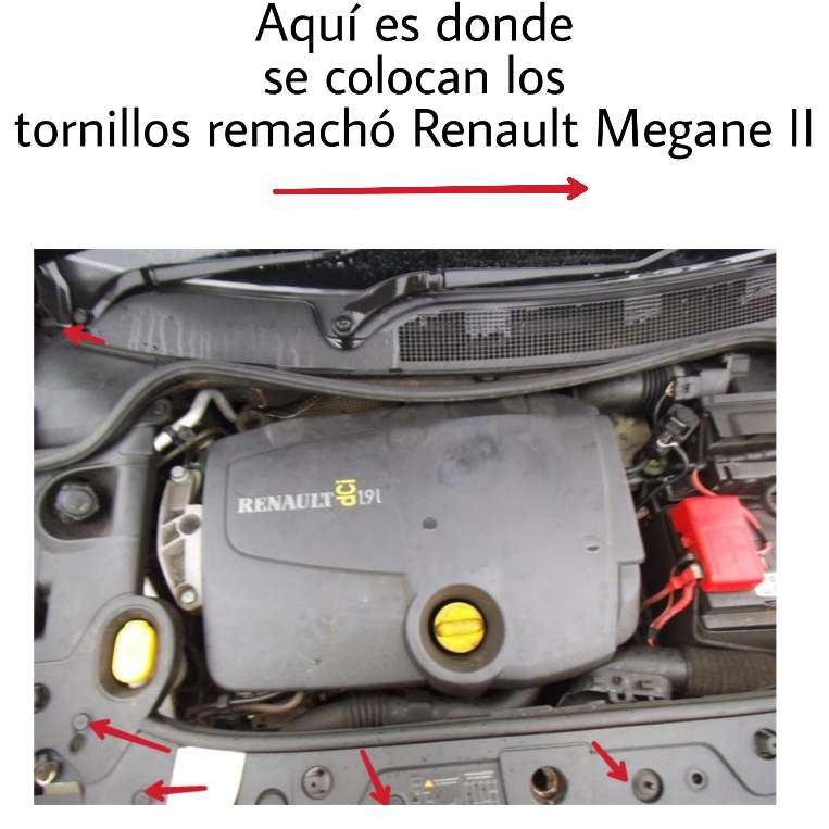 Imagen producto Kit 10 Unids -Tornillos Remache Renault Megane II 5