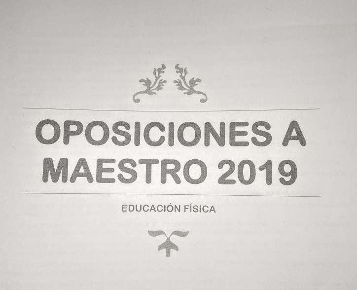 Imagen Temario Oposiciones Maestro de E.F. 2019